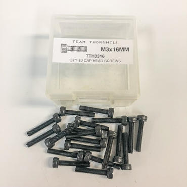 M3x16MM Cap Head Screws - Qty 20 w/Thornbox