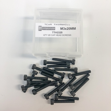 M3x20MM Cap Head Screws - Qty 20 w/Thornbox