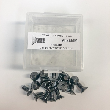 M4x8MM Flat Head Screws - Qty 20 w/Thornbox