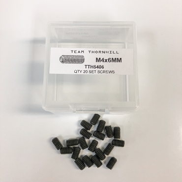 M4x6MM Set Screws - Qty 20 w/Thornbox