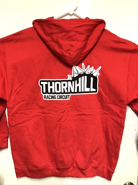 Thornhill Red Zip Up Hoodie