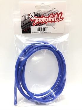 Super Flex 12 Gauge Silicone Wire 4' - Blue